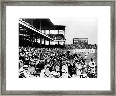 St.louis Cardinals, Play The 3rd Game Framed Print by Everett
