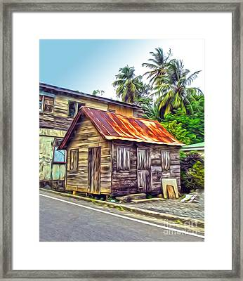 Stlucia - Rusted Shack Framed Print by Gregory Dyer