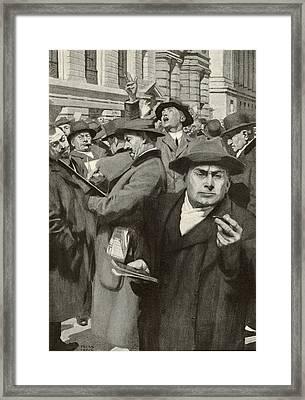 Stock Exchange, New York City Framed Print by Mid-manhattan Librarynew York Public Library