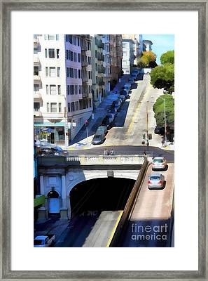 Stockton Street Tunnel In Hilly San Francisco . 7d7499 Framed Print
