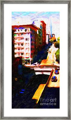 Stockton Street Tunnel In Partial Shadow Framed Print by Wingsdomain Art and Photography