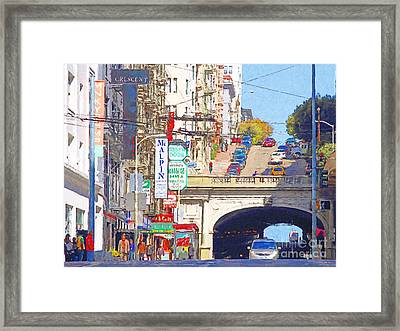 Stockton Street Tunnel In San Francisco . 7d7355 Framed Print by Wingsdomain Art and Photography