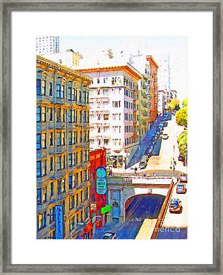 Stockton Street Tunnel In San Francisco . 7d7502 Framed Print by Wingsdomain Art and Photography