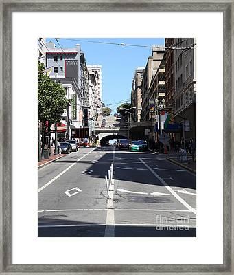 Stockton Street Tunnel In San Francisco Framed Print