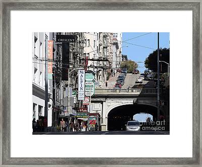 Stockton Street Tunnel San Francisco . 7d7355 Framed Print