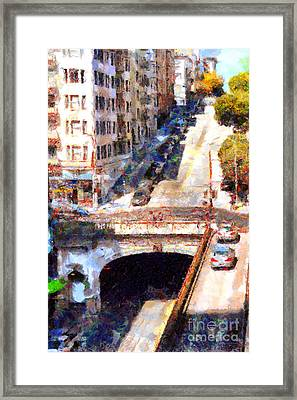 Stockton Street Tunnel San Francisco . 7d7499 Framed Print by Wingsdomain Art and Photography