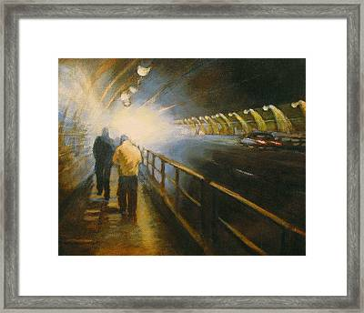 Stockton Tunnel Framed Print by Meg Biddle