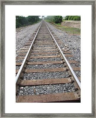 Framed Print featuring the photograph Stockyard Railroads by Shawn Hughes