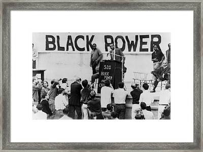 Stokely Carmichael Speaking Framed Print by Everett