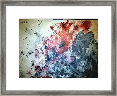 Stolen Kisses Framed Print by Montserrat Lopez Ortiz