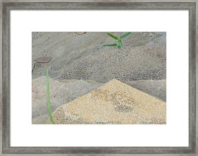 Framed Print featuring the photograph Stone And Grass by Louis Nugent