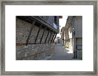 Stone And Wooden House Framed Print by Tony Murtagh