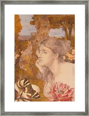 Stone Angel Framed Print by Kanchan Mahon