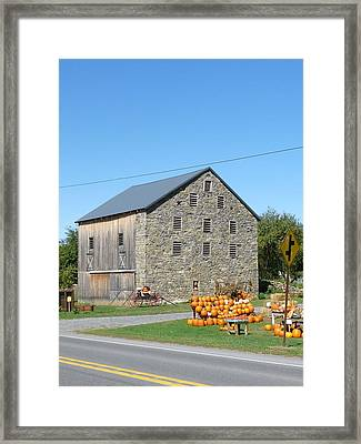Stone Barn Framed Print by John Turner