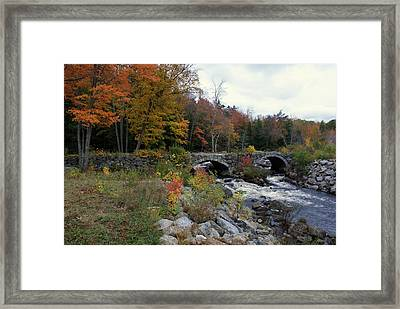 Stone Bridge Autumn 2011 Framed Print by Lois Lepisto