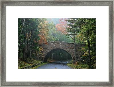 Framed Print featuring the photograph Stone Bridge by Mary Hershberger