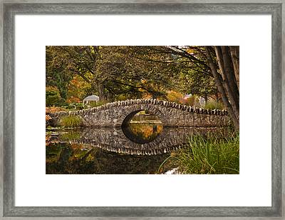 Stone Bridge Reflection Framed Print by Graeme Knox
