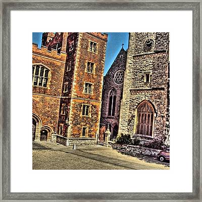 Stone Buildings, So Classic And Lovely Framed Print by Abdelrahman Alawwad