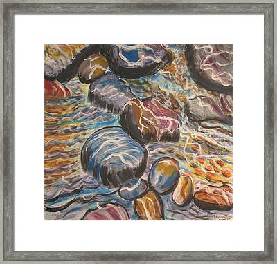 Stone Candy Framed Print by Julia Rita Theriault