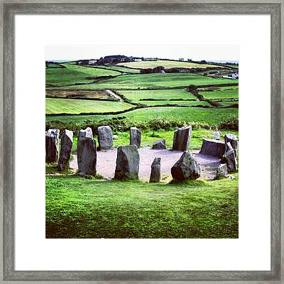 Stone Circle Framed Print