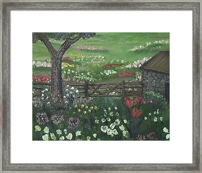 Stone Cottage Framed Print by Angela Stout