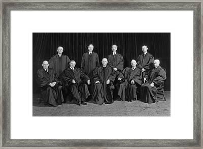 Stone Court. United States Supreme Framed Print