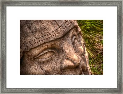 Framed Print featuring the photograph Stone Face by Joetta West