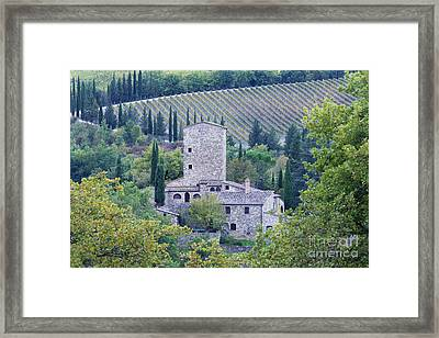 Stone Farmhouse Near Montefioralle Framed Print by Jeremy Woodhouse
