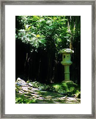 Stone Lantern Framed Print