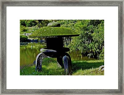 Framed Print featuring the photograph Stone Lantern by Tim Ernst