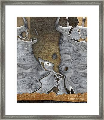 Stone Men 28b - Celebration Framed Print by Variance Collections