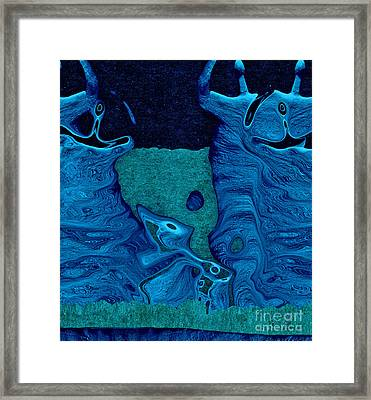 Stone Men 28c2b - Celebration Framed Print by Variance Collections