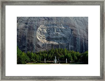Stone Mountain   The Carving Framed Print by George Bostian