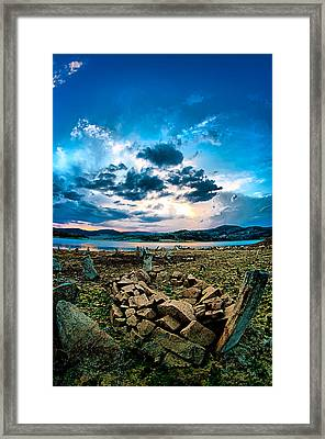 Framed Print featuring the photograph Stone by Okan YILMAZ