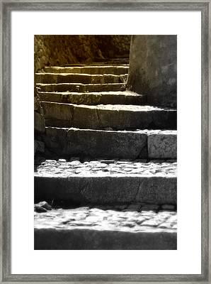 Stone Steps Framed Print by Emanuel Tanjala
