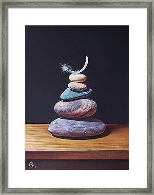 Stone Tower 1 Framed Print by Elena Kolotusha