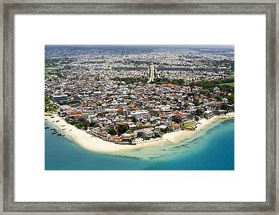 Stone Town Of Zanzibar Is The Cultural Framed Print by Michael Fay