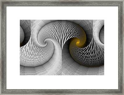 Stone Tree And Yellow Light Framed Print by Mark Eggleston