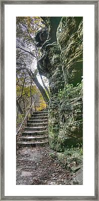 Stone Walk Framed Print