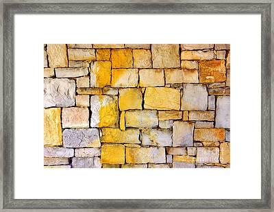 Stone Wall Framed Print by Carlos Caetano