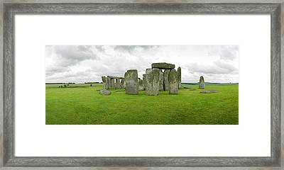 Stonehenge Stones Framed Print by Jan W Faul