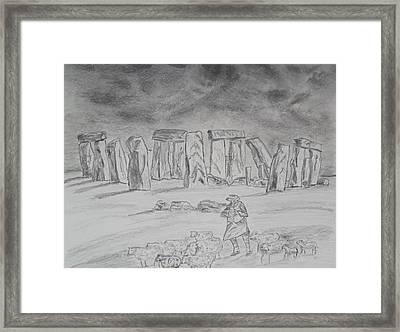 Stonehenge Study Framed Print