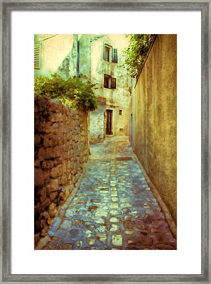 Stones And Walls Framed Print