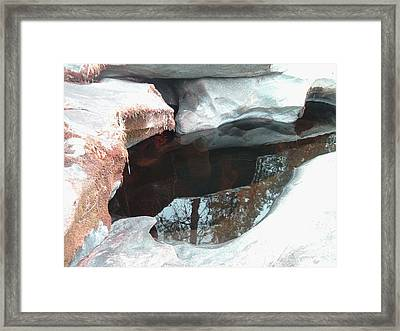 Stones And Water Framed Print by Naxart Studio
