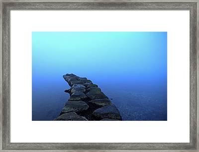 Stones Arranged In Water Framed Print by Sindre Ellingsen