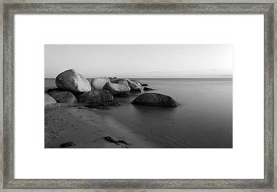 Stones In The Sea 2 Framed Print