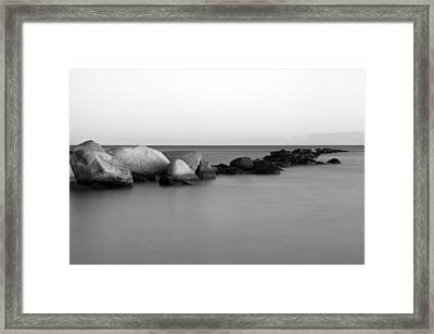 Stones In The Sea 4 Framed Print by Falko Follert