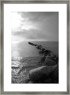 Stones In The Sea 5 Framed Print