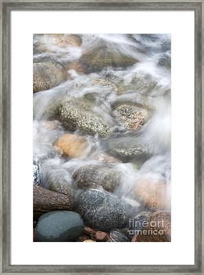 Stones In Water2 Framed Print