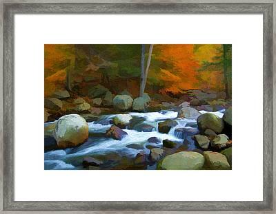 Stony Brook Stream Framed Print